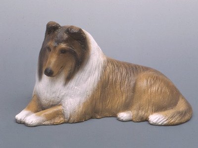 Collie Rough - Sandstone Small Statue