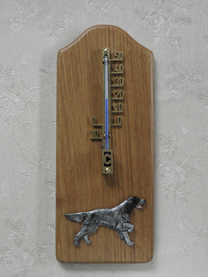 English Setter - Thermometer Rustical