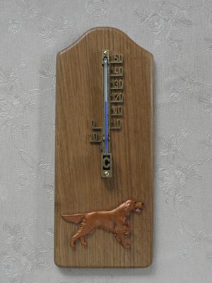Irish Setter - Thermometer Rustical