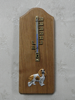 Cavalier King Charles Spaniel - Thermometer Rustical