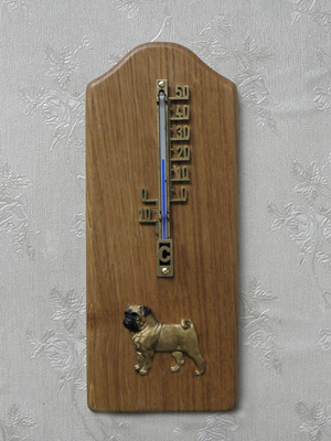 Pug - Thermometer Rustical