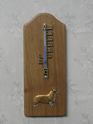 Welsh Corgi Pembroke - Thermometer Rustical