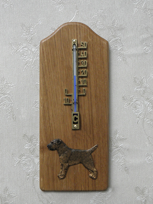 Border Terrier - Thermometer Rustical