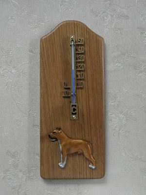 American Staffordshire Terrier - Thermometer Rustical