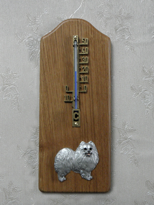 Pomeranian - Thermometer Rustical