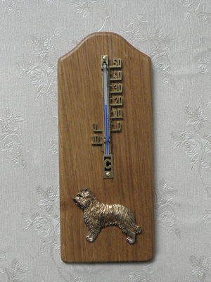 Pyrenean Shepherd Dog - Thermometer Rustical