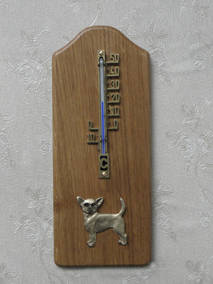 Chihuahua Smooth - Thermometer Rustical