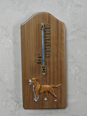American Pit Bull Terrier - Thermometer Rustical
