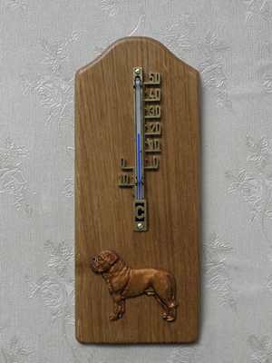 Dogue de Bordeaux - Thermometer Rustical