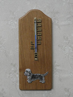 Dandie Dinmont Terrier - Thermometer Rustical