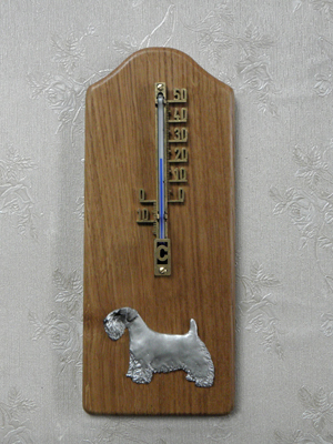 Sealyham Terrier - Thermometer Rustical