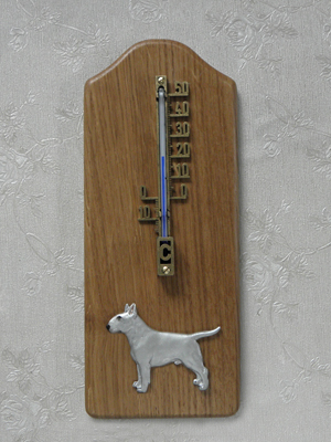 Bullterrier - Thermometer Rustical