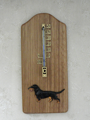 Dachshund Smooth - Thermometer Rustical