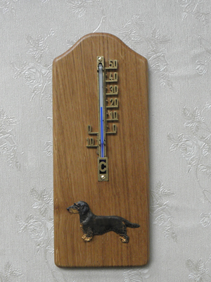 Dachshund Wire - Thermometer Rustical
