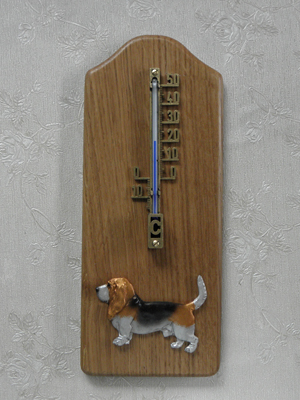 Basset Hound - Thermometer Rustical