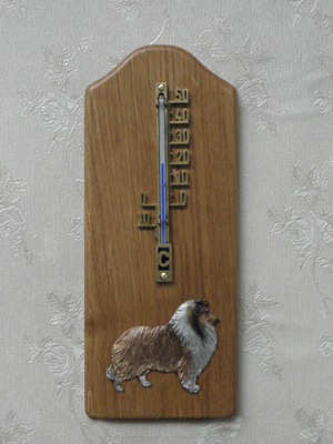 Collie Rough - Thermometer Rustical