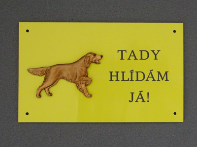 Irish Setter - Warning Outdoor Board Figure