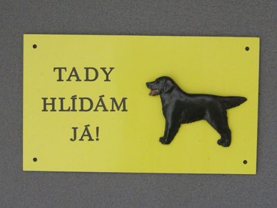 Flat Coated Retriever - Warning Outdoor Board Figure