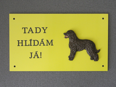 Irish Water Spaniel - Warning Outdoor Board Figure