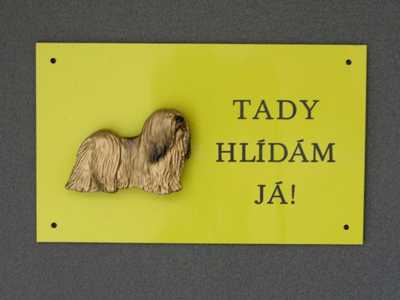 Lhasa Apso - Warning Outdoor Board Figure