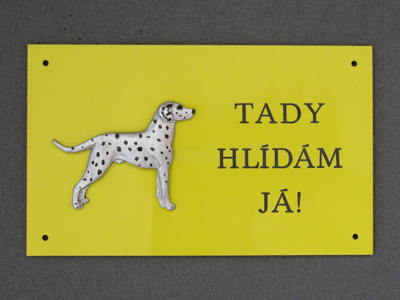 Dalmatian - Warning Outdoor Board Figure