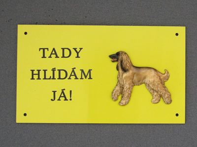 Afghan Hound - Warning Outdoor Board Figure