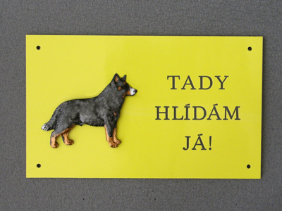 Australian Cattle Dog - Warning Outdoor Board Figure