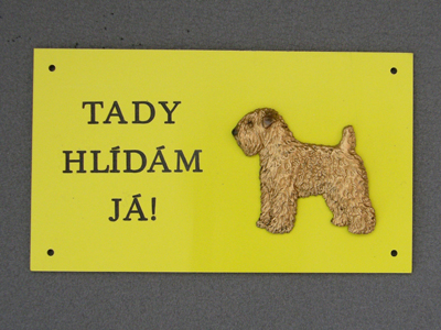 Soft Coated Wheaten Terrier - Warning Outdoor Board Figure