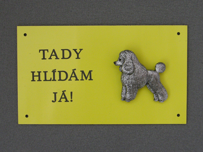 Poodle Baby - Warning Outdoor Board Figure