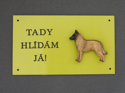 Belgian Malinois - Warning Outdoor Board Figure