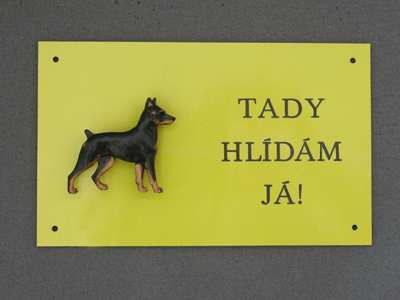 Miniature Pinscher - Warning Outdoor Board Figure