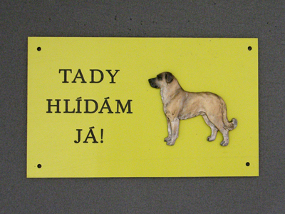 Anatolian Shepherd - Warning Outdoor Board Figure