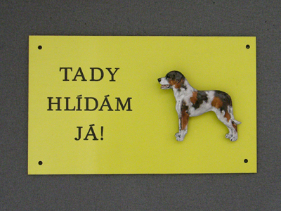 Louisiana Catahoula - Warning Outdoor Board Figure