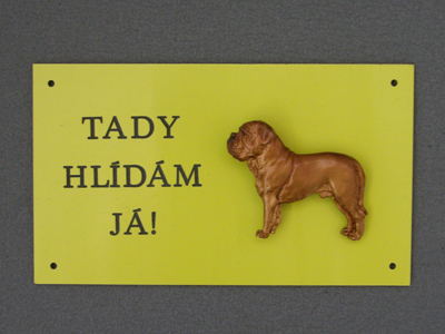 Dogue de Bordeaux - Warning Outdoor Board Figure