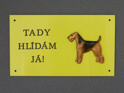 Airedale Terrier - Warning Outdoor Board Figure