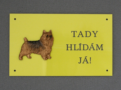 Australian Terrier - Warning Outdoor Board Figure