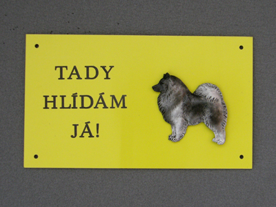 German Spitz - Warning Outdoor Board Figure