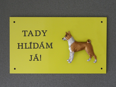 Basenji - Warning Outdoor Board Figure