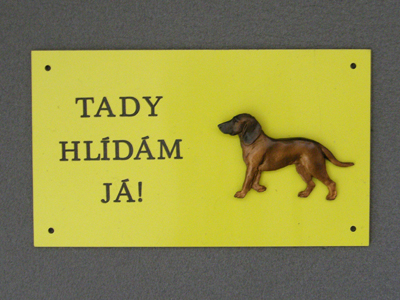 Bavarian Mountain Hound - Warning Outdoor Board Figure