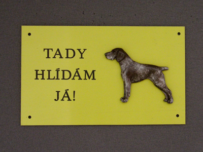 German Shorthaired Pointer - Warning Outdoor Board Figure