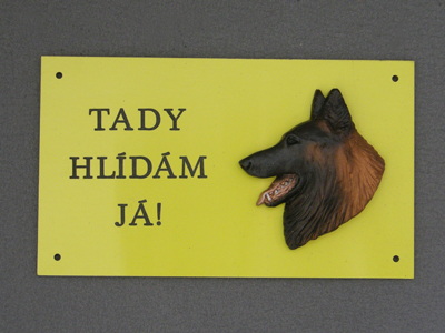 Belgian Tervueren - Warning Outdoor Board Head