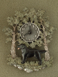 Flat Coated Retriever - Wall Clock metal