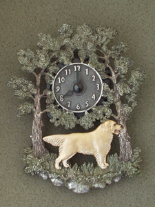 Golden Retriever - Wall Clock metal