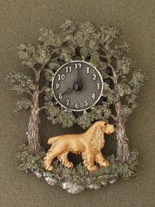 English Cocker Spaniel - Wall Clock metal