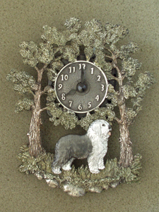 Bobtail - Wall Clock metal