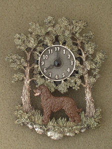 Irish Water Spaniel - Wall Clock metal