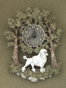 Poodle Classic - Wall Clock metal