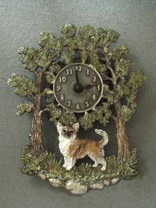 Chihuahua Longhaired - Wall Clock metal