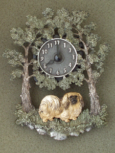 Pekingese - Wall Clock metal