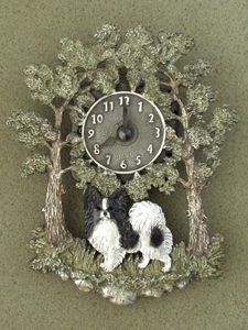 Papillon - Wall Clock metal